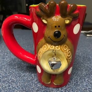 Pier1 Reindeer Jingle Bell Mug